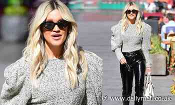 Ashley Roberts sets pulses racing in PVC trousers and pointy black stilettos