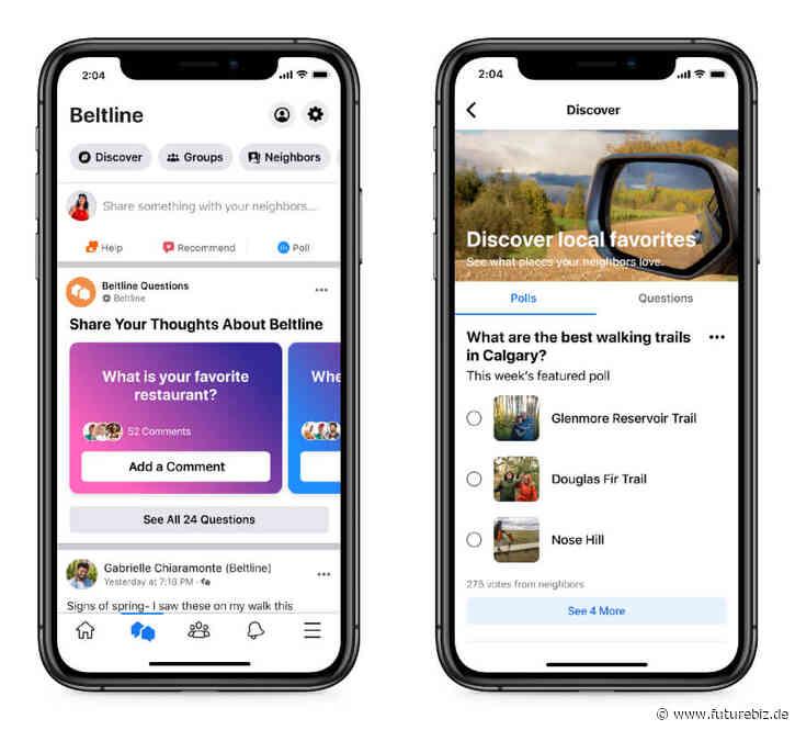 Facebook Neighborhoods – mehr lokale Inhalte, Empfehlungen & Anzeigen