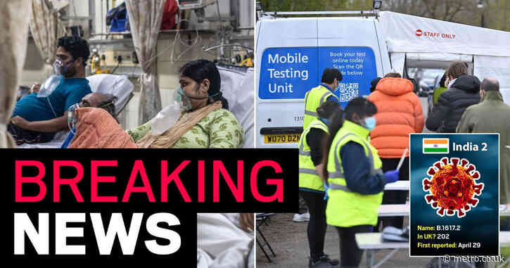 Indian Covid escalated to 'variant of concern' in England as cases rise 250%