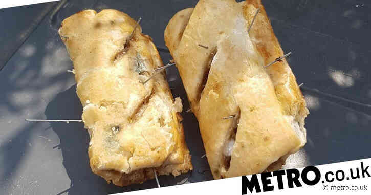 Booby traps set for dogs as sausage rolls laced with 4-inch spikes are left in park