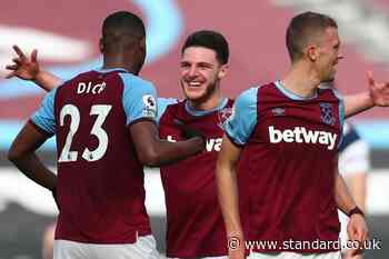 Declan Rice injury latest: West Ham star steps up recovery but David Moyes coy over return date
