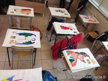 Vitorchiano, gli stendardi di San Michele realizzati dagli alunni   - NewTuscia