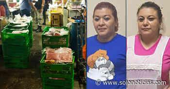 Mujeres capturadas con carne sustraída de un vehículo robado en Quezaltepeque - Solo Noticias