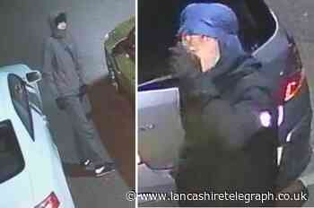 Police seek hooded tracksuit-wearing duo after Darwen home burgled while occupants slept upstairs