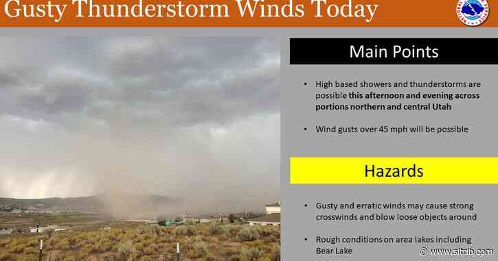 Expect gusty winds — and maybe snow! — in northern Utah this weekend