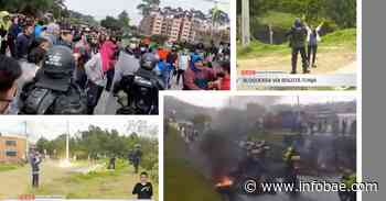 Video | Frente a mandatario municipal, Esmad atacó a manifestantes en Tocancipá - infobae