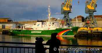 In pictures: Greenpeace ship Esperanza calls in at The Port of Sunderland