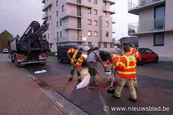 Brandweer heeft twee uur werk om gelekte olie op te kuisen - Het Nieuwsblad