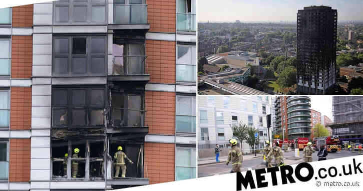 Grenfell survivors' fury as 40 people treated after fire near Canary Wharf
