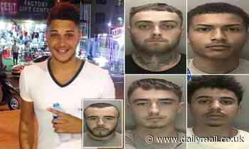 Five thugs who battered 'hero' father to death after he tried to break up fight guilty of murder