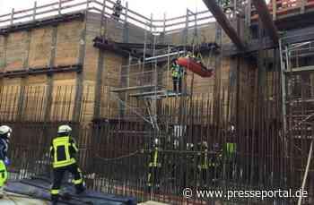 FW-BN: Bonn-Vilich Bauarbeiter abgestürzt