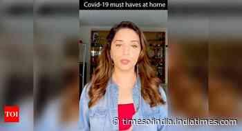 Madhuri posts a video on COVID essentials