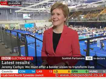 Sturgeon says chances of an SNP majority  'in the balance'