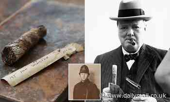 Winston Churchill's half-smoked cigar that was picked up by police bodyguard is set to fetch £1,200