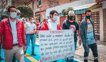 El alcalde de Paipa se unió a las protestas sociales en Boyacá - W Radio