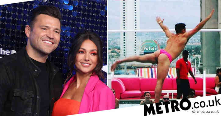Mark Wright dons bright pink thong in stag do throwback that can't be unseen