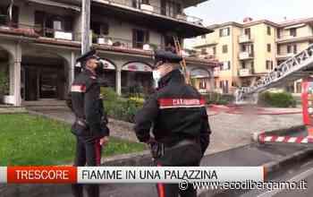Fiamme in una palazzina, paura a Trescore - L'Eco di Bergamo