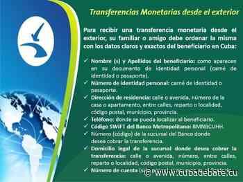 Detalles sobre transferencias monetarias desde el exterior mediante el Banco Metropolitano - CubaDebate