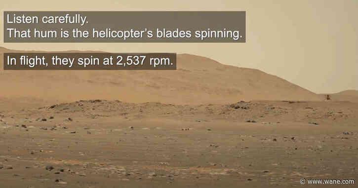 Listen to NASA's Mars helicopter hum through the thin Martian air
