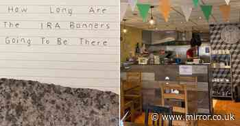 Owners of Irish cafe in UK share dismay over anonymous 'IRA note' in post