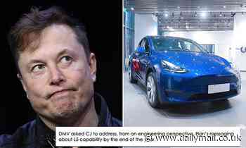 Tesla admits to California DMV that Elon Musk has been exaggerating about 'full self-driving' cars