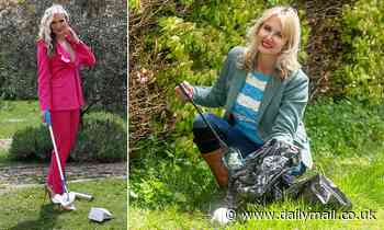 Caprice and Nancy Sorrell go out litter-picking in support of the Great British Spring Clean