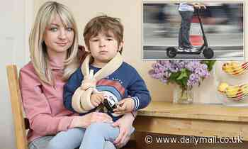 Mother whose son, three, was badly injured by e-scooter demands urgent crackdown on the vehicles