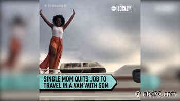 Single mom quits job to travel in a van with son