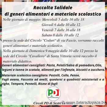 Raccolta di solidarietà promossa dai circoli PD di Sestri Levante - Teleradiopace