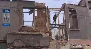 Cercado de Lima: reportan caída de pared de casona del jirón Huanta en Barrios Altos - El Bocón