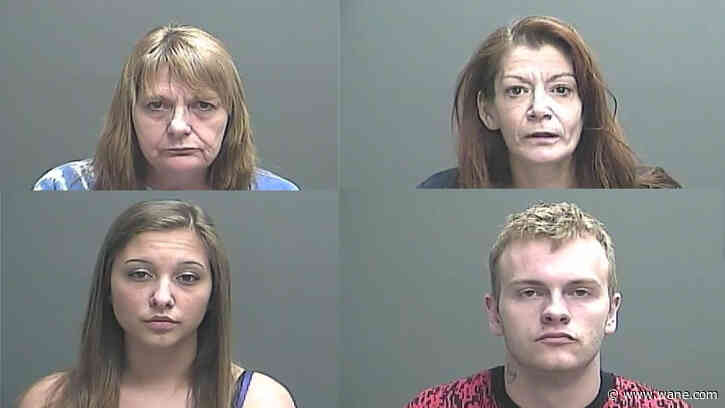 4 arrested in southern Indiana less than 500 feet from elementary school for dealing, possessing meth