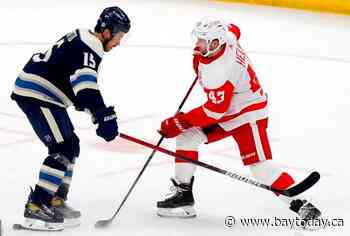 Greiss makes 22 saves, Red Wings rally to beat Blue Jackets