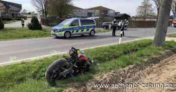 Auf Landstraße bei Erkelenz: Motorradfahrer bei Unfall schwer verletzt - Aachener Zeitung