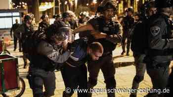 Gewaltsamer Konflikt: Berichte: Schwere Zusammenstöße in Jerusalem mit Verletzten