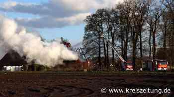 Rund 130 Einsatzkräfte löschen Brand in Klein Lessener Ortschaft Dahlskamp - kreiszeitung.de