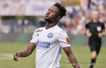 Joel Fameyeh scores 11th goal of the season for Orenburg - GhanaWeb
