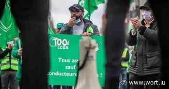 LCGB protestiert für Absicherung der Berufskraftfahrer - Luxemburger Wort