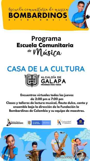 Casa de la Cultura de Galapa, continúa este jueves 6 de mayo con el programa «Escuela Comunitaria de Música» - Diario La Libertad