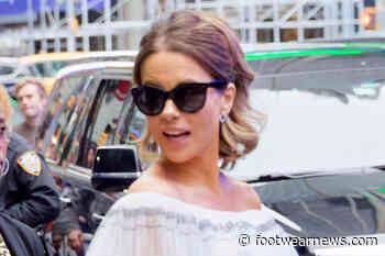 Kate Beckinsale Promotes Her 'New Job' in a Bustier Top, Ruffled Leather Skirt & Thigh-High Boots - Footwear News
