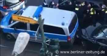 Berlin: Hier stoppt die Polizei einen Unfallfahrer, der mit einer Bombe drohte - Berliner Zeitung