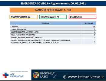 Frosinone - Covid, ancora pochi casi, ma 15 nella sola città di Cassino - Teleuniverso
