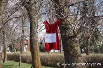 Red dresses hang in Wetaskiwin for MMIW awareness - Pipestone Flyer