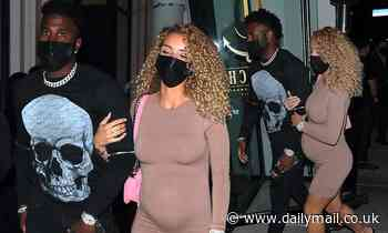 Jason Derulo dresses casual on a date with his pregnant girlfriendJena Frumes