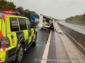 Picture reveals dramatic Doncaster motorway crash this morning - Doncaster Free Press