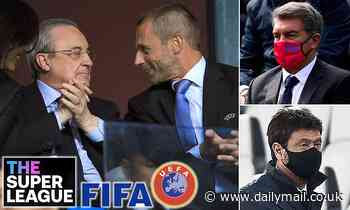 Juventus, Real Madrid and Barcelona join forces to slam pressure over European Super League