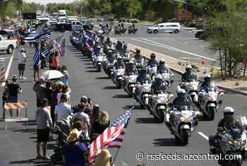 Procession held for Chandler police Officer Christopher Farrar killed during pursuit