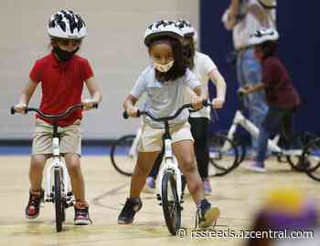 Tempe schools teach kids how to ride a bike as part of PE class