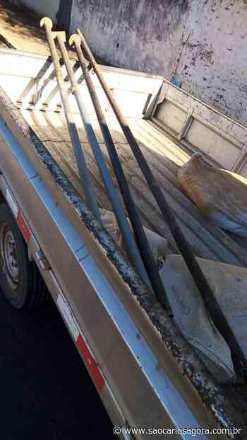 Ladrão é detido após furtar quatro barras de metal em Ibaté - São Carlos Agora