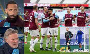 Glenn Hoddle and Rio Ferdinand fear for stumbling Leicester's top four chances and tip West Ham