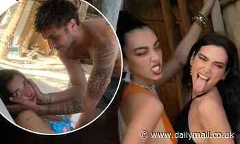 Dua Lipa shows her playful side in a series of throwback vacation snaps